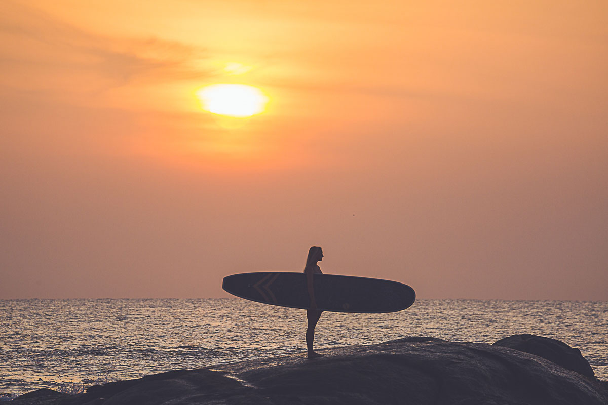 Cocomat Endless by NSP Surfboards in the sunset